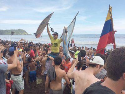 """El marplatense Usuna es campeón mundial de surf: """"Siento una gran emoción"""""""