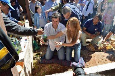 Juan Manuel Urtubey y Gerardo Morales rindieron homenaje a la Pachamama