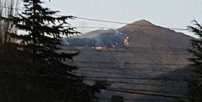 Preocupaci�n en Taf� del Valle por un incendio en el Cerro Negrito