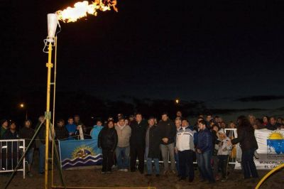 Se inauguró red de gas en barrio Los Notros
