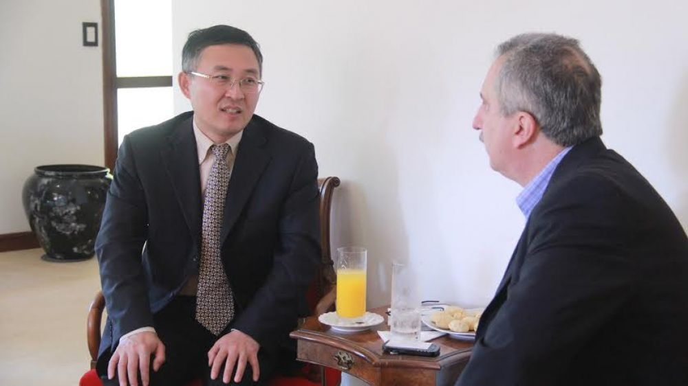 Passalacqua recibió al consejero económico de la Embajada de la República Popular China en Argentina