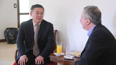 Passalacqua recibi� al consejero econ�mico de la Embajada de la Rep�blica Popular China en Argentina