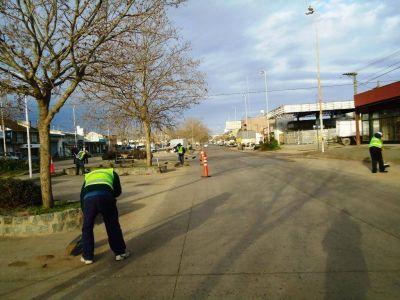 Continúan los trabajos en distintos puntos críticos de la ciudad