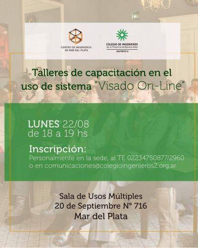 """El Colegio de Ingenieros organizará un taller de capacitación para el uso del sistema """"Visado On-line"""""""