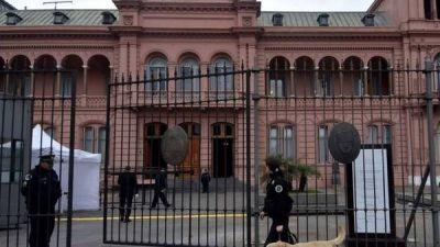 Tras las amenazas, nuevas medidas de seguridad en la Casa Rosada