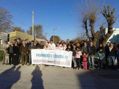 Pavimento Contínuo: El Intendente inauguró cuatro cuadras en Villa Diamante