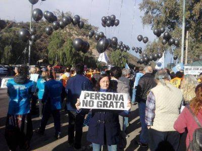 La visita del Presidente estuvo acompañada de protestas