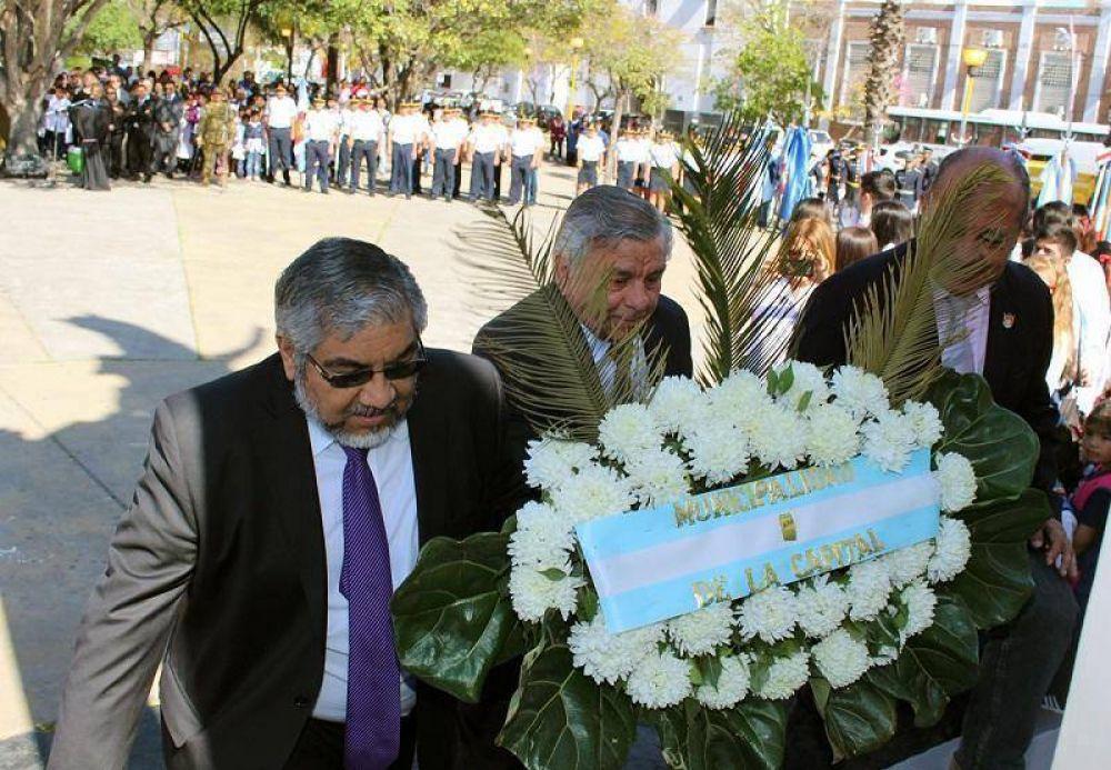 El Intendente Hugo Infante participó del 166 aniversario de la muerte de José de San Martín