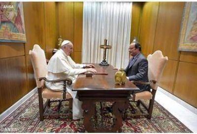 Audiencia del Papa al Presidente de Francia