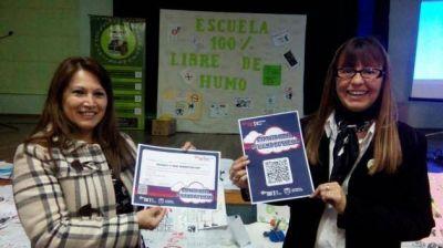 """Salud certificó """"Libre de Humo de Tabaco"""" a una escuela de Juana Koslay"""