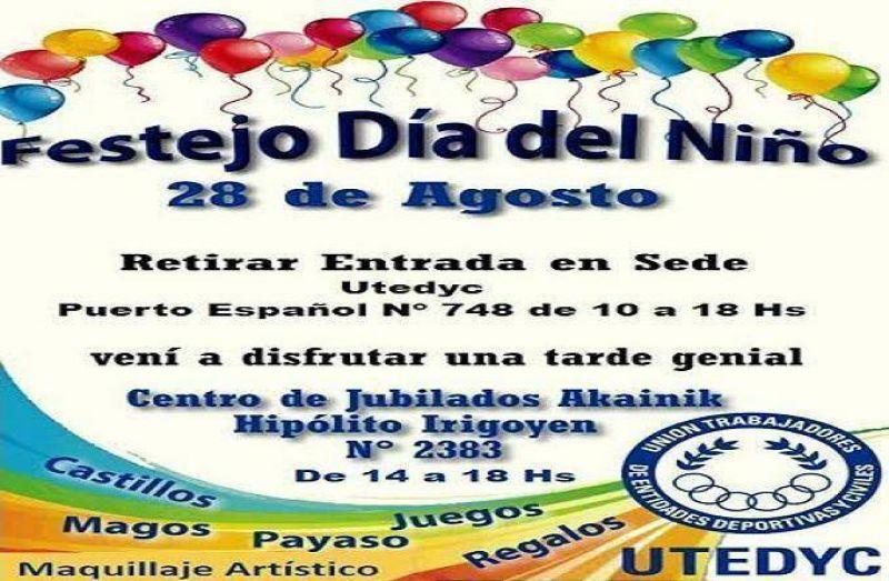UTEDYC celebrará el Día del Niño