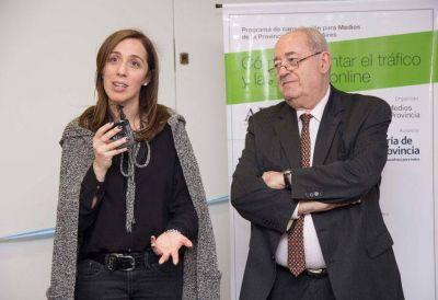 Vidal inauguró un espacio multimedia digital con ADEPA