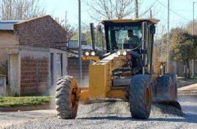 Avanzan obras de mejorado en las calles de Lober�a