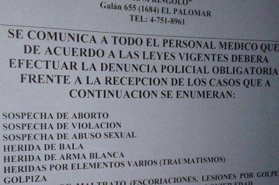 Mor�n: Separan del cargo al m�dico que ped�a denunciar en la polic�a �sospechas de aborto�