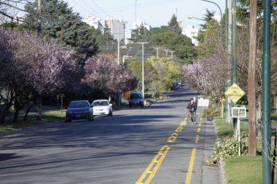 Ciclovías: el intendente recorrió los trabajos que se realizan sobre calle San Andrés