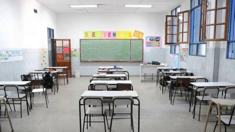 El paro nacional docente tiene fuerte adhesión en las escuelas públicas