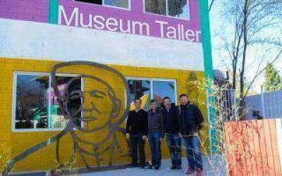 Zabaleta, Men�ndez y Sujarchuk se reunieron con el artista Alejandro Marmo en Hurlingham