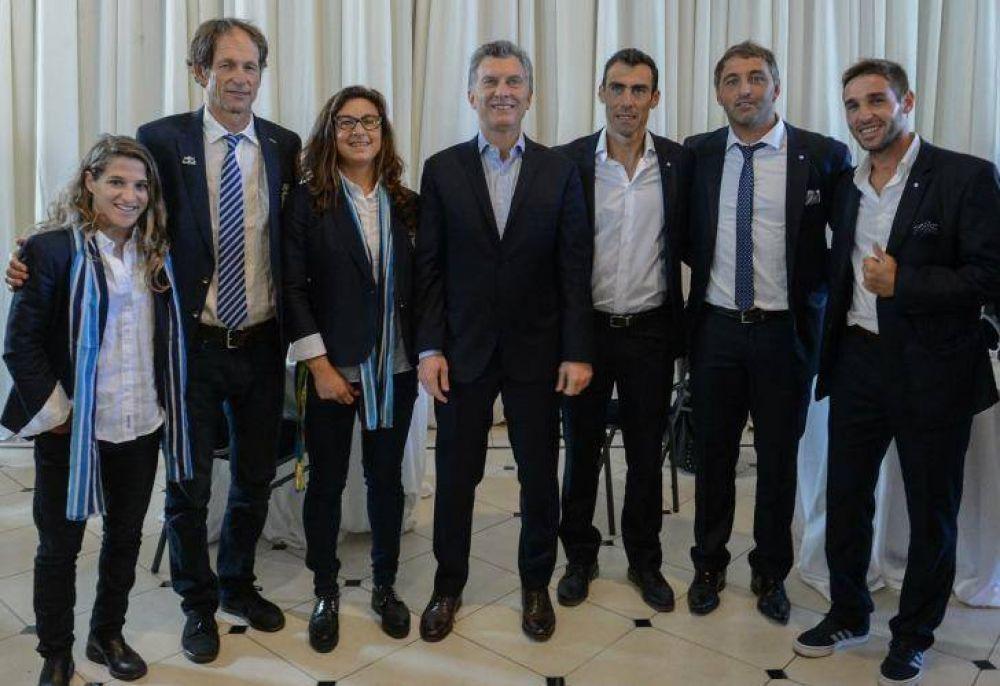 Macri recibió a los atletas argentinos que fueron a Río
