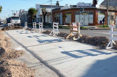 El EMVIAL realiza trabajos en la barrio Bernardino Rivadavia