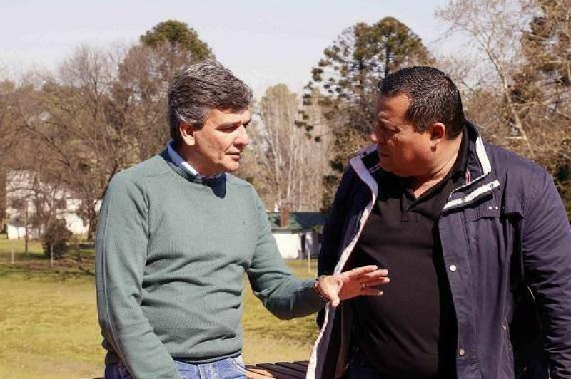 Juan Zabaleta recibi� al titular del sindicato de sanidad Hurlingham