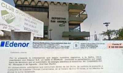Clubes de barrio: tarifazo del 500% y amenazas de corte del servicio