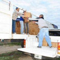 Entrega de m�dulos alimentarios para comunidades abor�genes