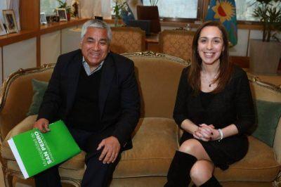 Vidal se reunió con el intendente de San Pedro, Cecilio Salazar