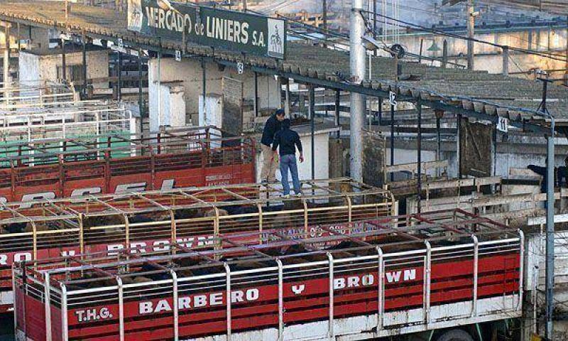 Por el paro del campo, casi no hubo ingreso de ganado a Liniers