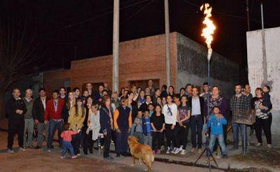Se inauguró extensión de red de gas en Bolívar