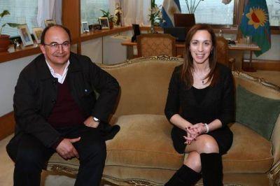 María Eugenia Vidal se reunió con el intendente de Saladillo, José Luis Salomón