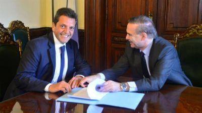 Sergio Massa y Miguel Pichetto volvieron a mostrarse juntos, esta vez en el Senado