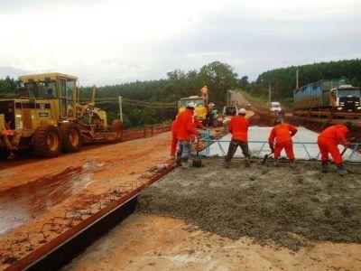 Para fin de año finalizarán las obras en las rotondas de Eldorado y Esperanza