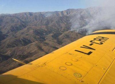 Incendios: sigue la lucha en la zona alta de las sierras