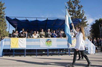 El gobernador presidió la promesa de lealtad a la Bandera de San Luis en Buena Esperanza