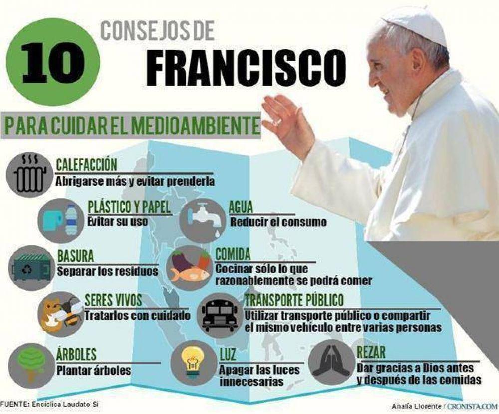Junto al Papa, la Argentina reza una oración por el cuidado del medio ambiente