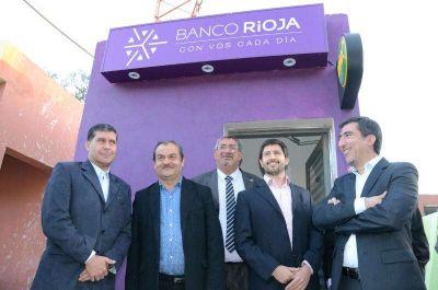 Malanz�n contar� con el servicio de cajero autom�tico del Banco Rioja