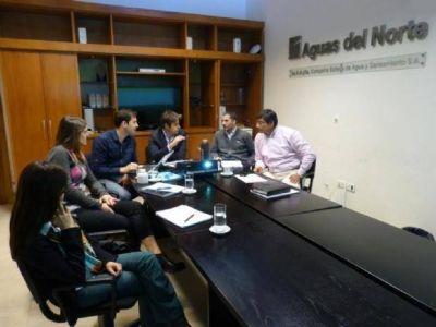 Trabajo conjunto entre Aguas del Norte y Secretaría de Planificación