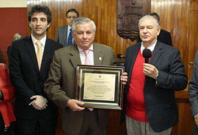 El intendente Infante fue distinguido por el Concejo Deliberante