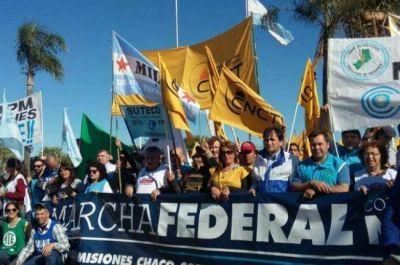 La Marcha Federal comenzó en todo el país y pasó por el Chaco