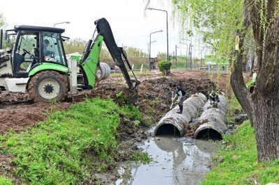 San Fernando entuba un arroyo y empez� a construir el Poli N�9