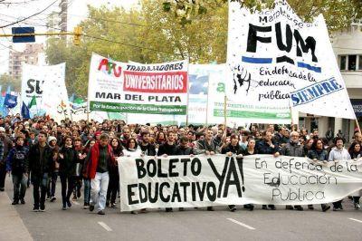 Boleto Universitario: exigirán a Vidal que incluya a Mar del Plata en prueba piloto