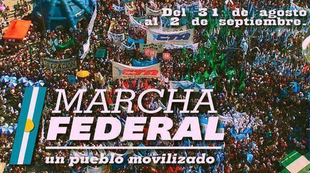 24 micros de Mar del Plata se sumaron a la Marcha Federal