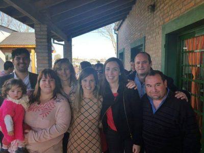 Aprile y Meo Guzmán visitaron Lamadrid junto a la gobernadora Vidal