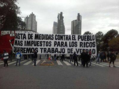 Bloquearon los accesos a Puerto Madero