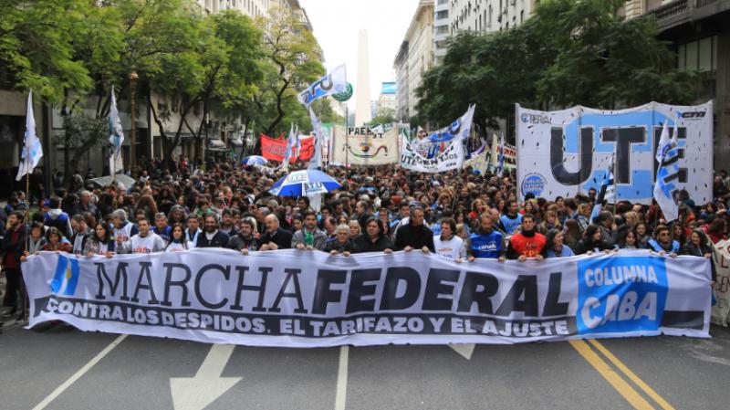 Tras la Marcha Federal, el sindicalismo amenaza con un paro nacional