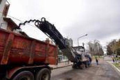 La Plata: Avanza con la repavimentación y puesta en valor de Diagonal 74