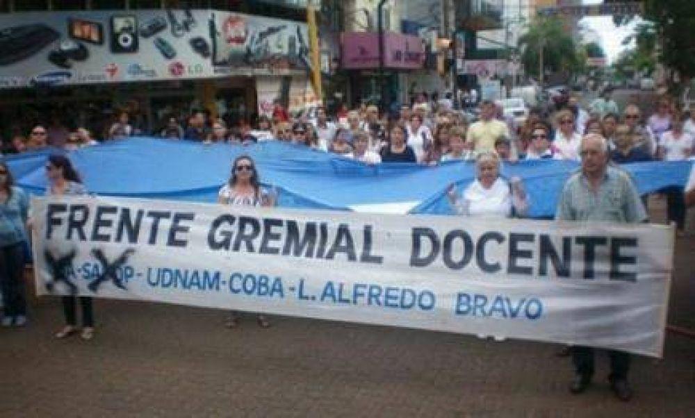Frente Gremial Docente: Convocan a la unidad de la docencia ante elecciones de vocales del CGE