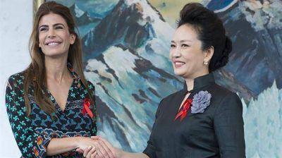 Juliana Awada y su activa agenda en China