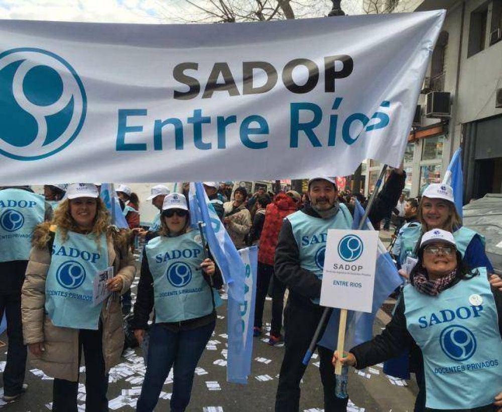 Sadop Entre Ríos participó de la Marcha Federal