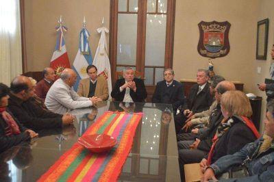 Autoridades electas del gremio municipal visitaron al Intendente Infante